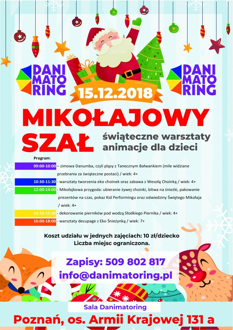 Mikołajowy Szał - Świąteczne Warsztaty I Animacje Dla Dzieci - Danimatoring.pl zdjęcie nr 1