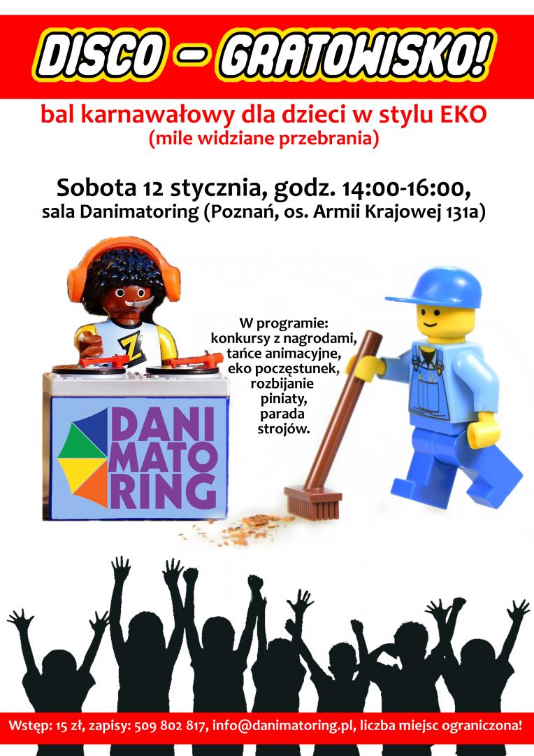 Disco-Gratowisko - Bal Karnawałowy Dla Dzieci W Stylu Eko - Danimatoring.pl zdjęcie nr 1
