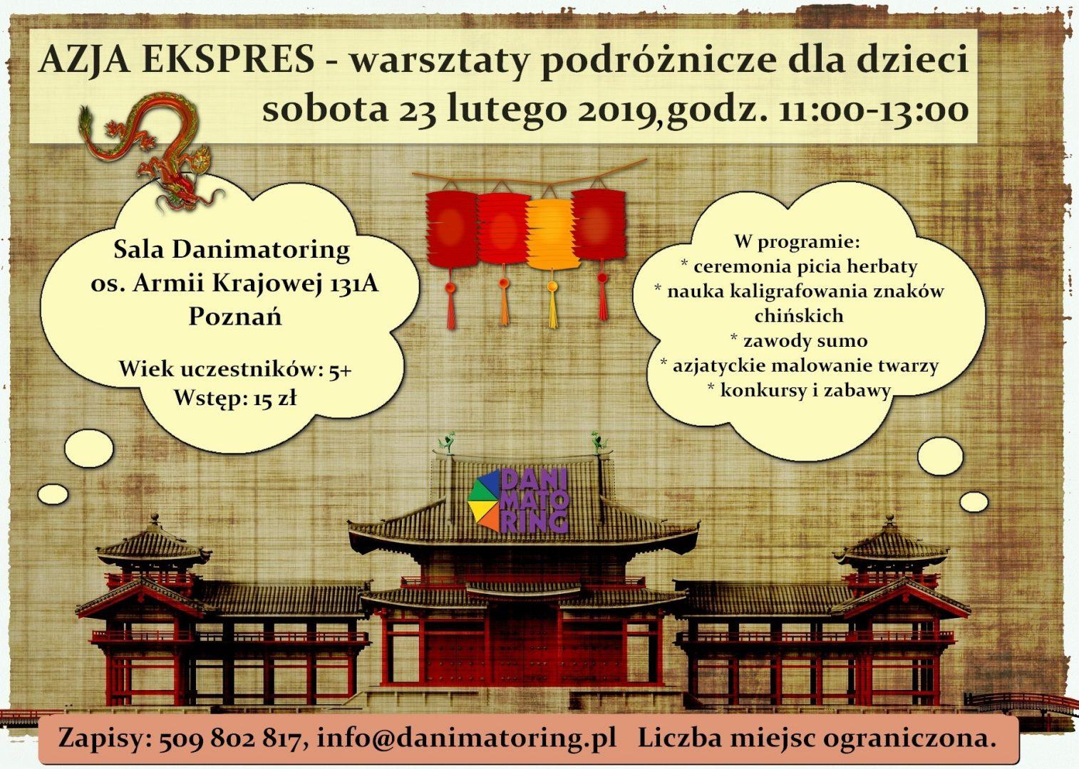 Azja Ekspres - Warsztaty Podróżnicze Dla Dzieci - Danimatoring.pl zdjęcie nr 1