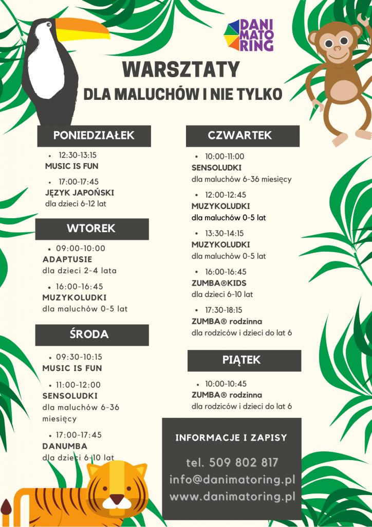 Tydzień Darmowych Warsztatów Dla Dzieci (7-11.09) - Danimatoring.pl zdjęcie nr 2