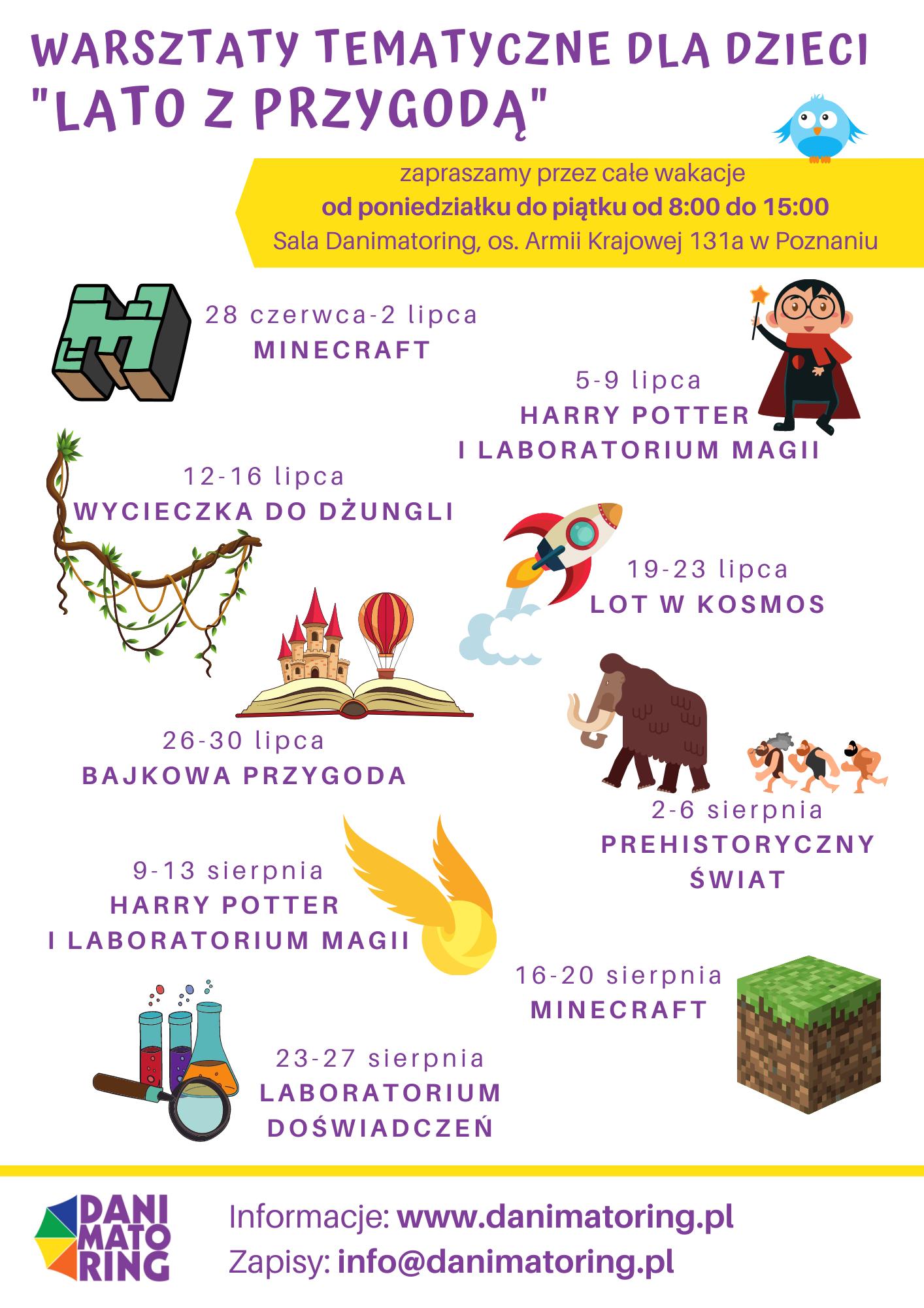 Lato Z Przygodą - Wakacyjne Warsztaty Tematyczne Dla Dzieci - Danimatoring.pl zdjęcie nr 2