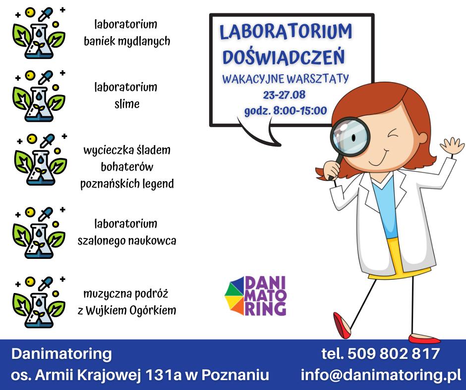 Lato Z Przygodą - Laboratorium Doświadczeń - Danimatoring.pl zdjęcie nr 1