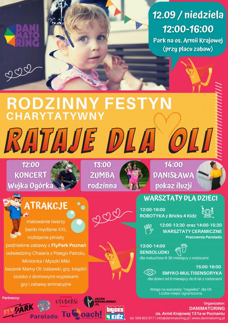 Rodzinny Festyn Charytatywny Rataje Dla Oli - 12 Września 2021 12:00-16:00 - Danimatoring.pl zdjęcie nr 1